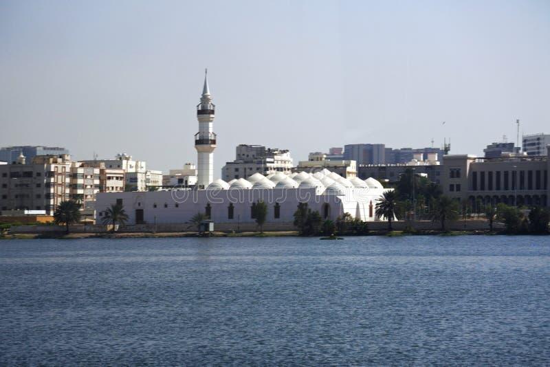 Qishas-Moschee in Dschidda, Saudi-Arabien stockbilder