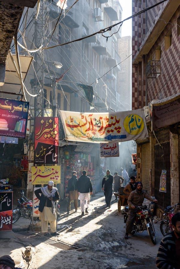 Qissa Khawani Bazaar Peshawar Paquistão imagens de stock