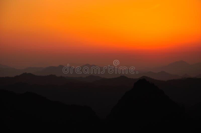 Qiyun mountain sunset royalty free stock photography