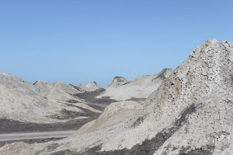 Qobustan gyttjavolcanoes arkivbild