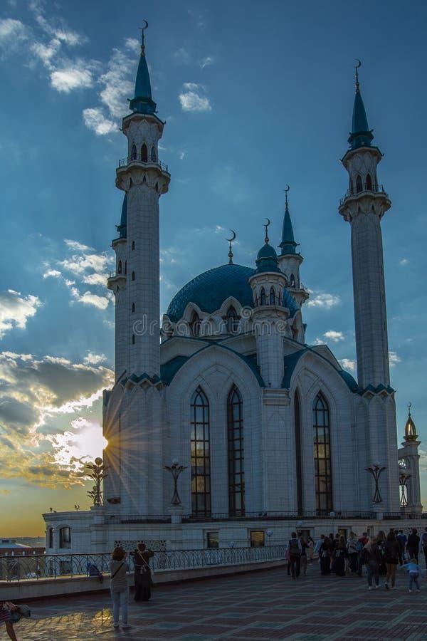 Qol谢里夫清真寺在喀山克里姆林宫 俄国 免版税库存照片