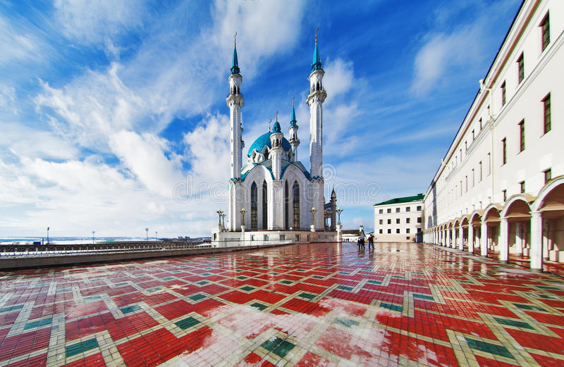 qolsharif мечети kazan kremlin стоковое изображение rf