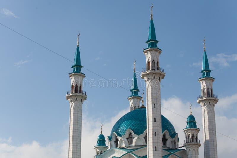Qolsharif kula sharif meczet, minarety meczet, Kazan Kremlin r fotografia royalty free