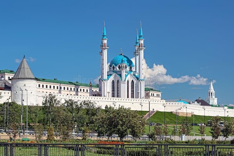 Qolsharif meczet w Kazan Kremlin, Rosja zdjęcia stock