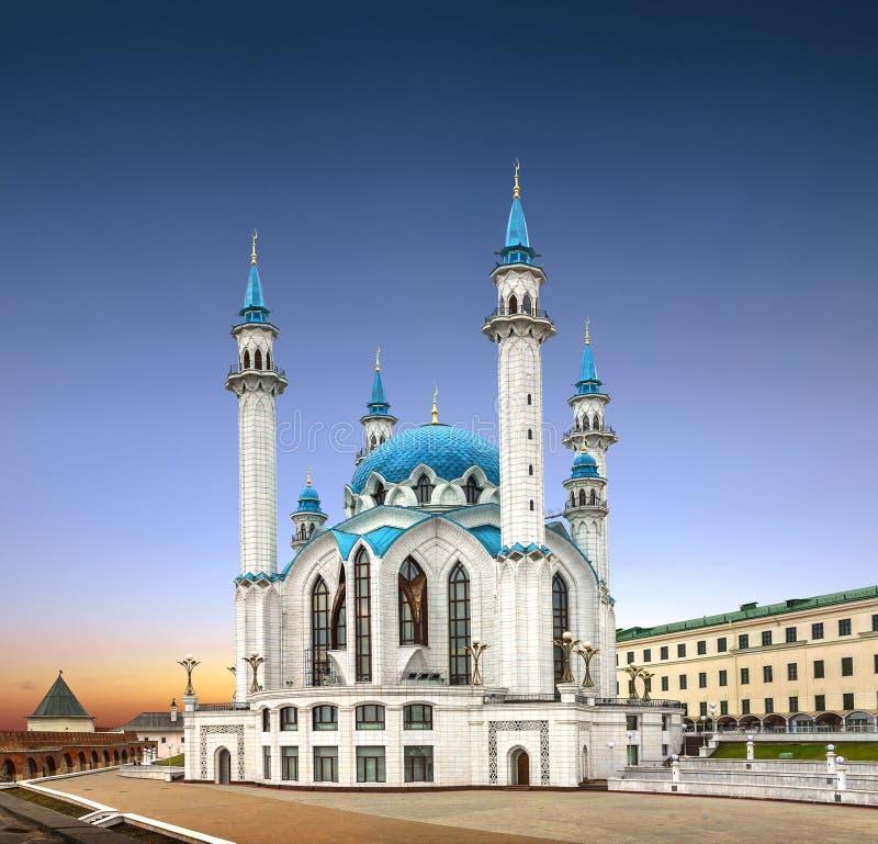 Qolsharif u. x28; Kul-Sharif& x29; Moschee in Kasan der Kreml Tatarstan, Russi lizenzfreies stockbild