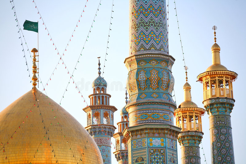 qom de minarets de l'Iran photos stock