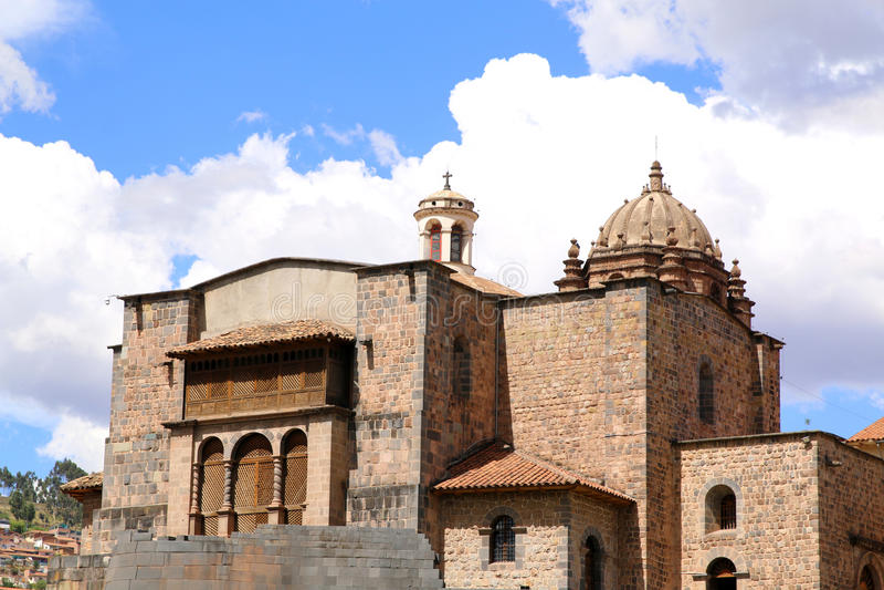 Qorikancha ruiny Santo Domingo w Cuzco i klasztor obraz stock