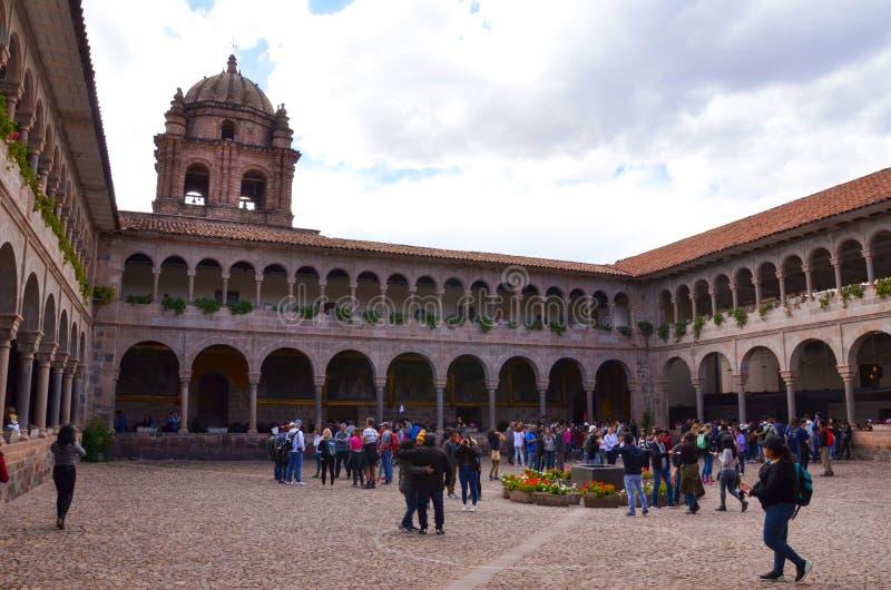 Qorikanchabinnenplaats in Cusco royalty-vrije stock afbeeldingen