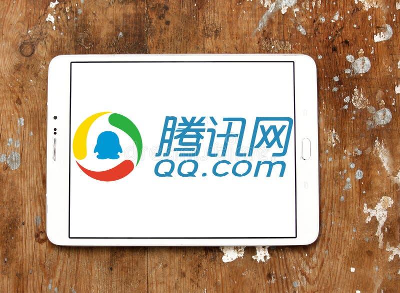 qq com-logo royaltyfri fotografi