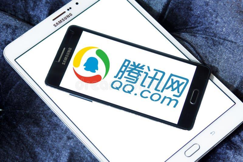 qq com-logo royaltyfri foto