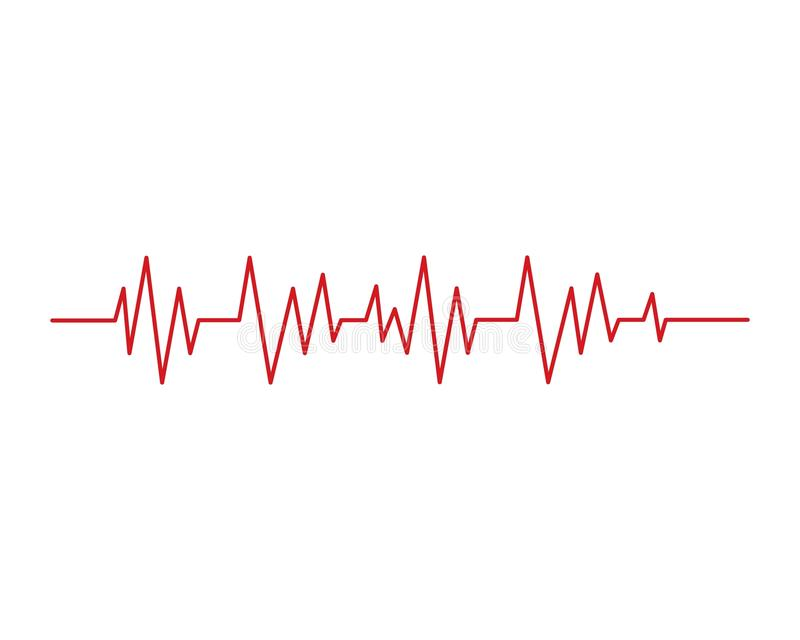 Qqheart beat line vector. Heart beat line vector ilustration stock illustration