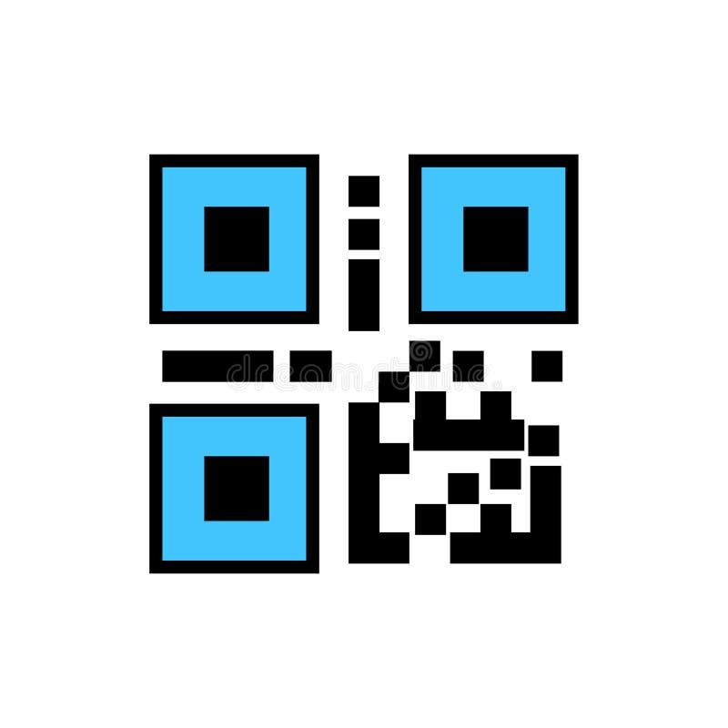 QR代码,计算机条码象 皇族释放例证