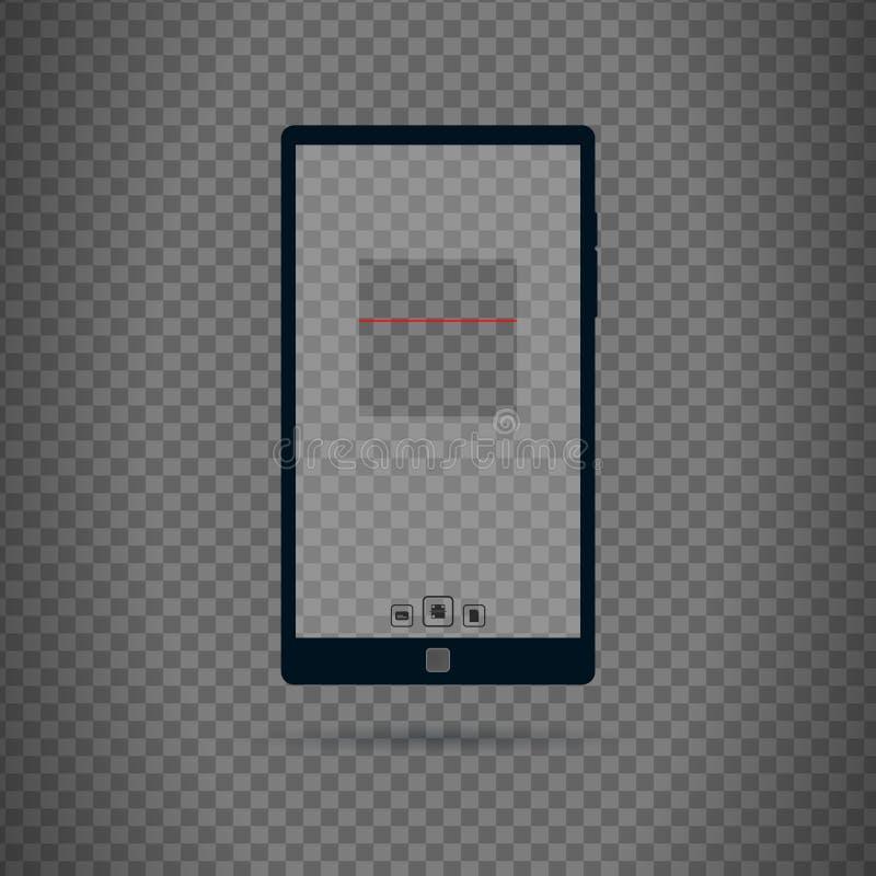 Qr和条形码扫描器用户界面 库存例证