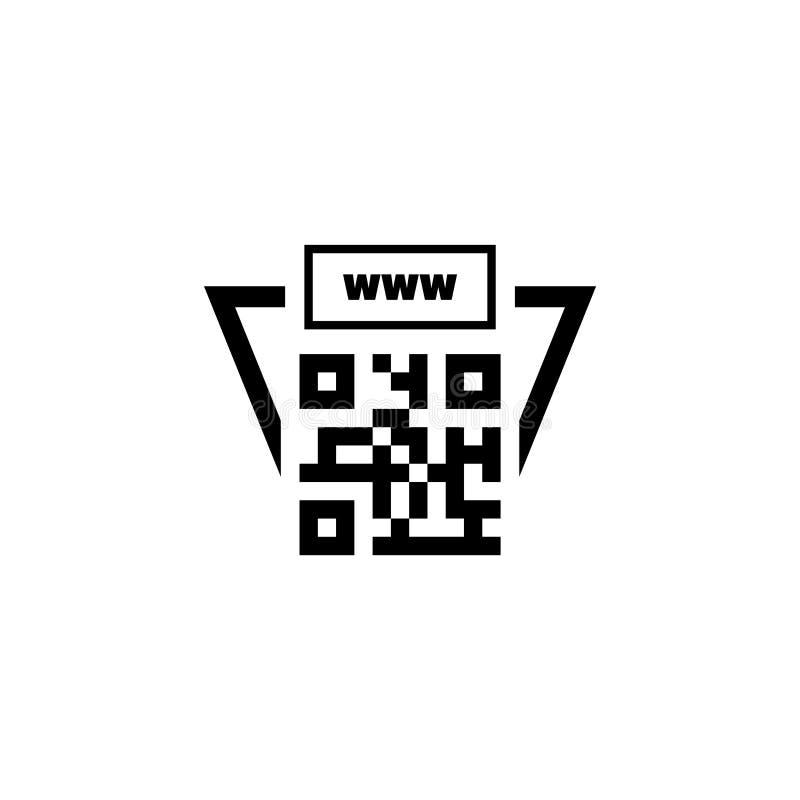 QR σύνδεση κώδικα με το επίπεδο διανυσματικό εικονίδιο περιοχών απεικόνιση αποθεμάτων