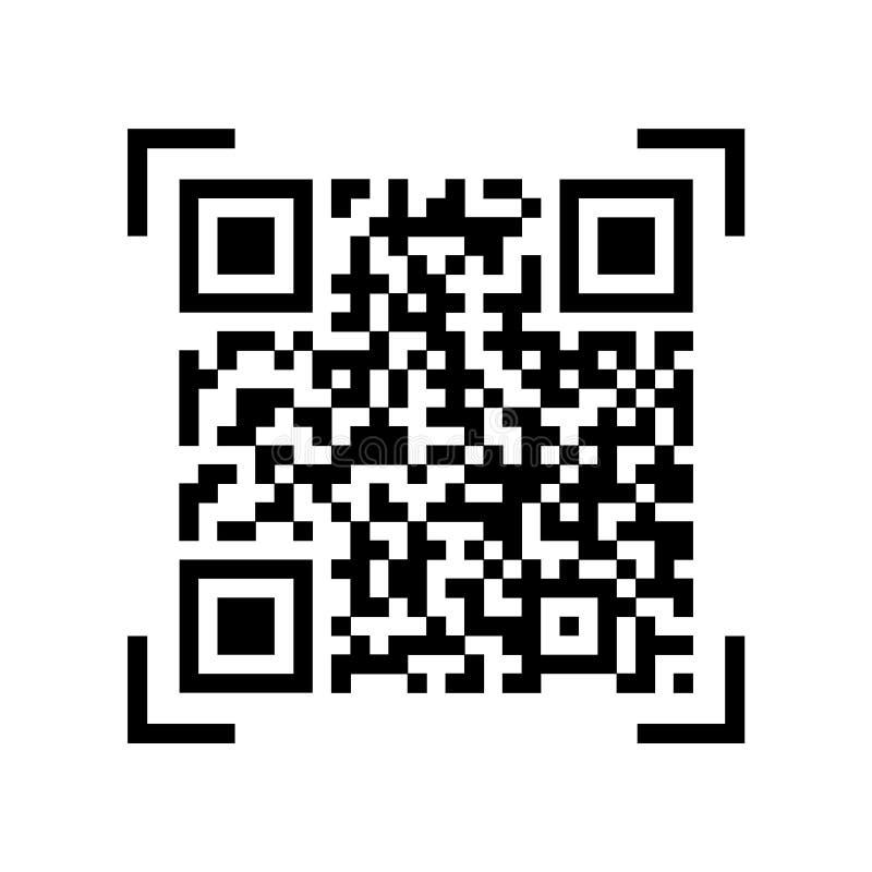 ??qr 样品qr代码象 : 库存例证