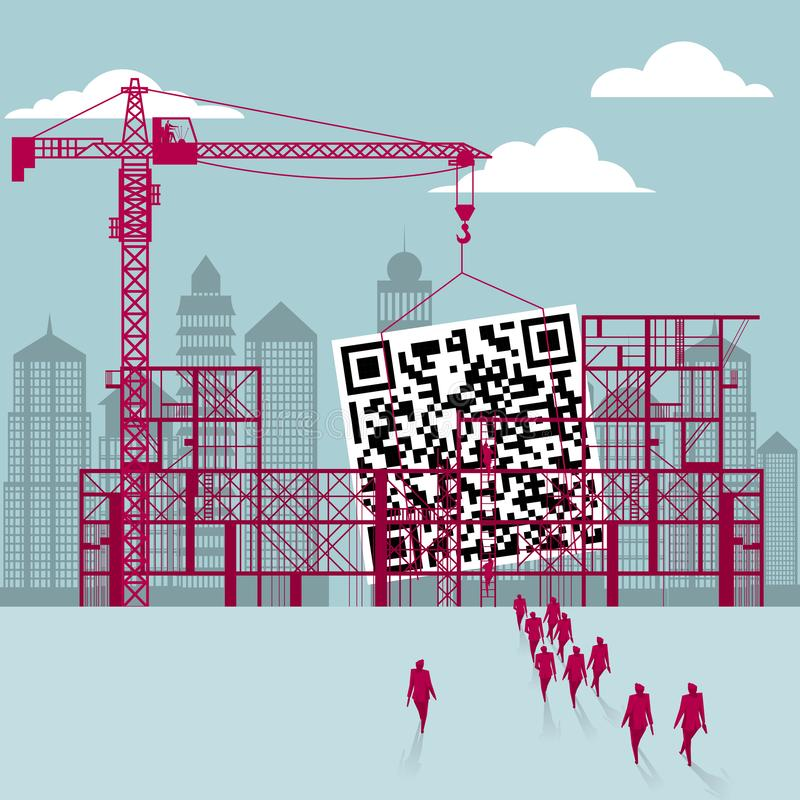 QR Code  stock illustrationer