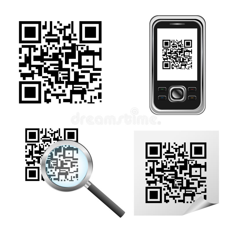 Qr code. Set of qr code icons isolated on white background.EPS file available vector illustration