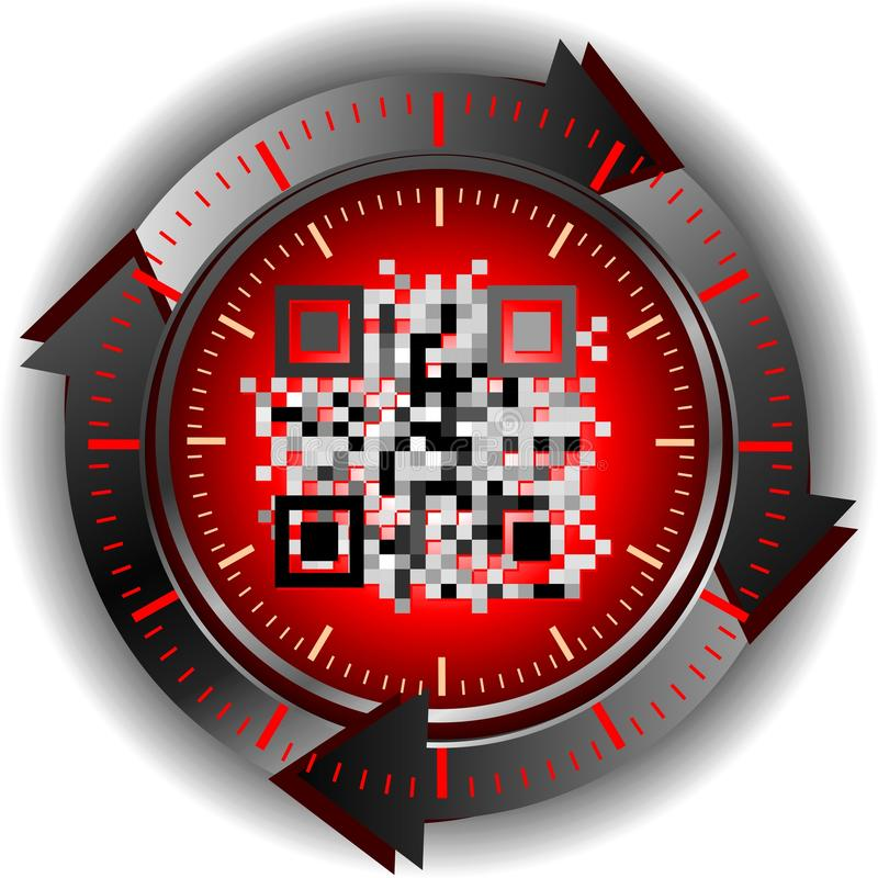 Download Qr code stock illustration. Image of carbon, graphic - 25960931