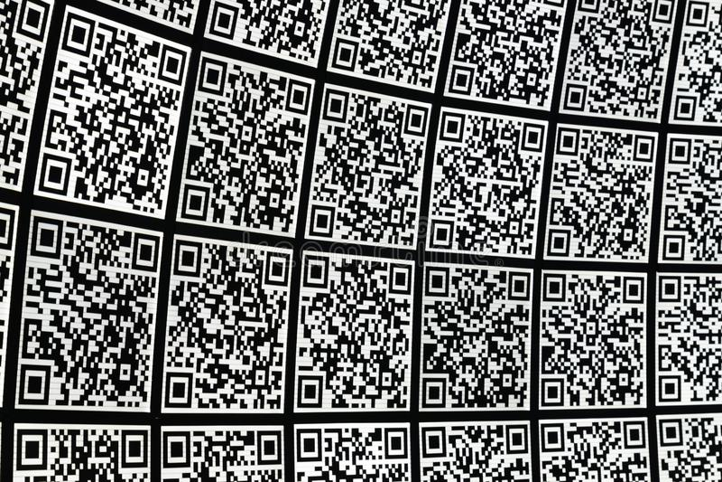 QR code abstract bacground. Hi tech backdrop royalty free illustration