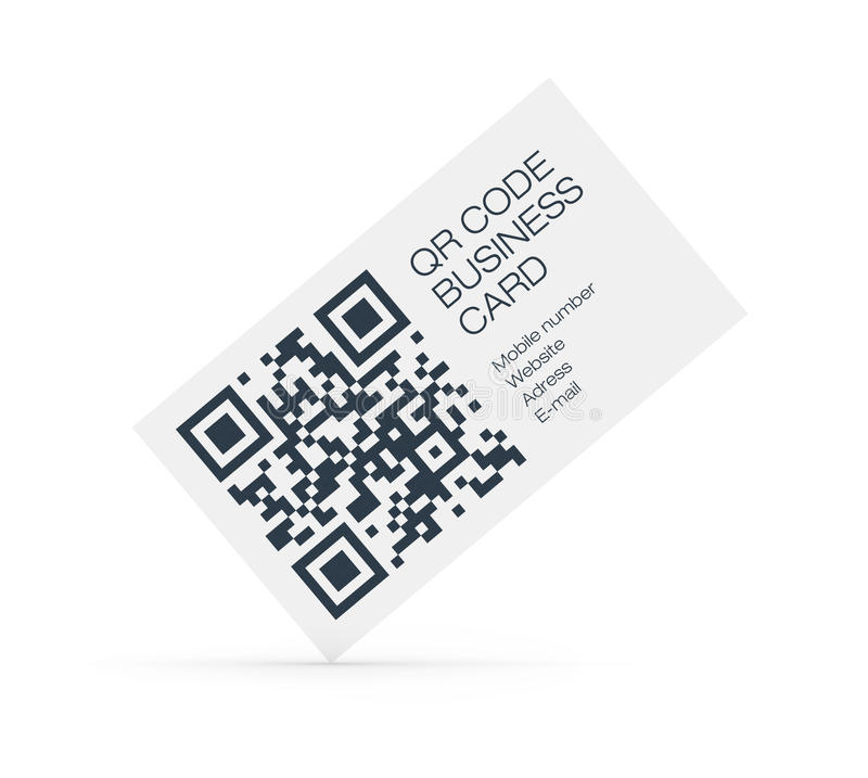 QR-Code Business Card Concept Editorial Stock Image - Image of ...