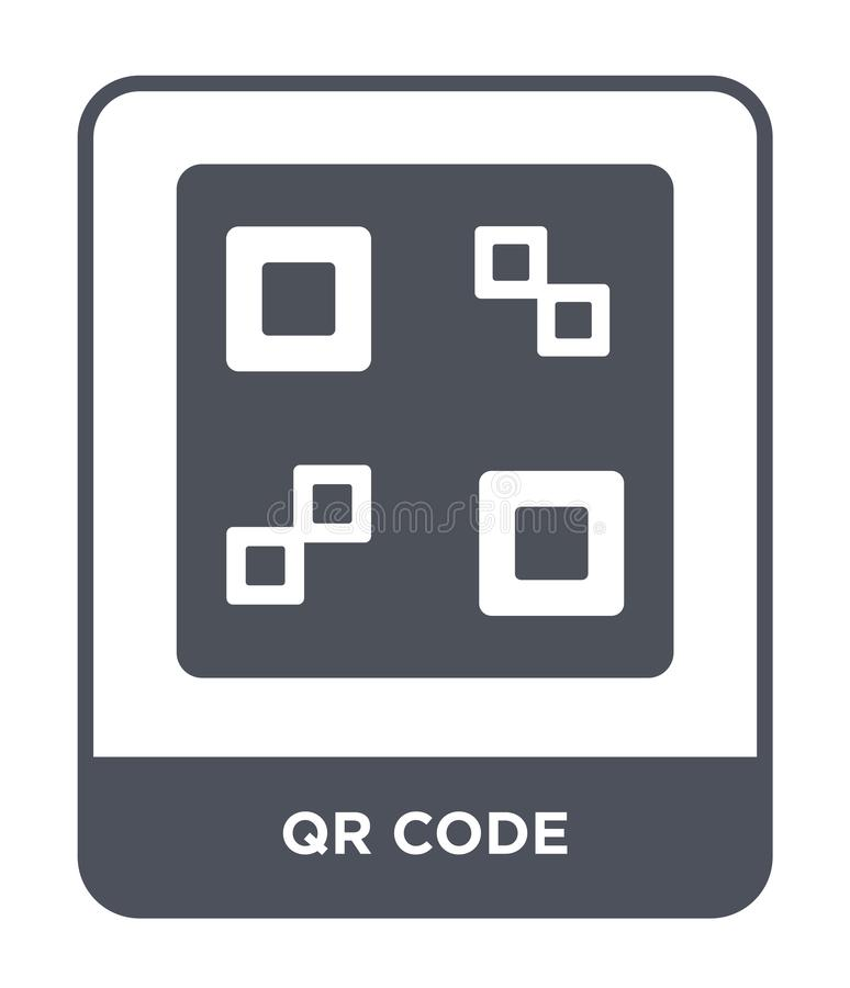qr code icon in trendy design style. qr code icon isolated on white background. qr code vector icon simple and modern flat symbol stock illustration
