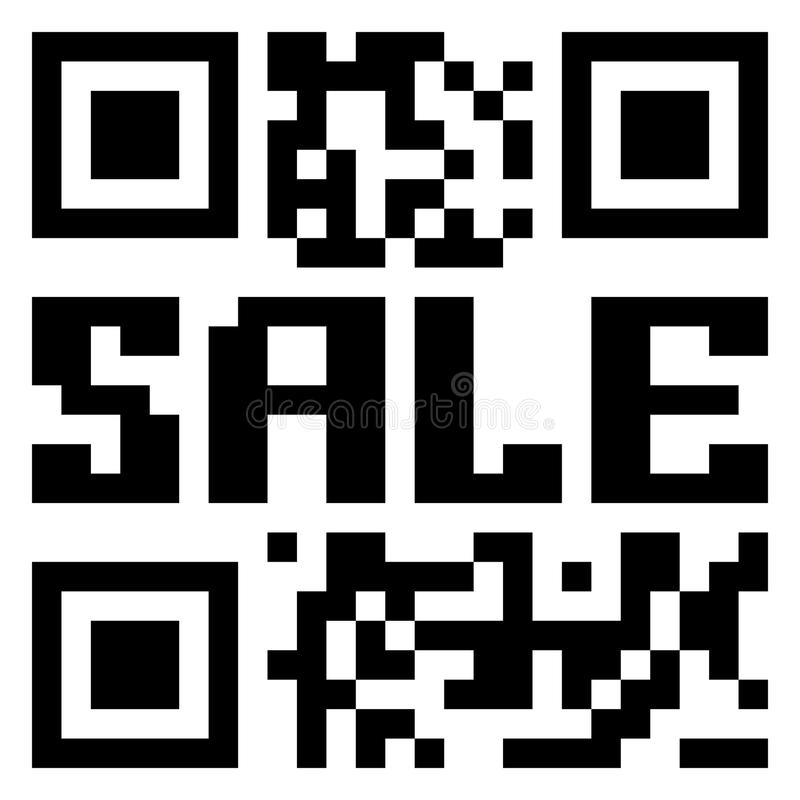 QR code for item in sale. EPS 8 vector illustration