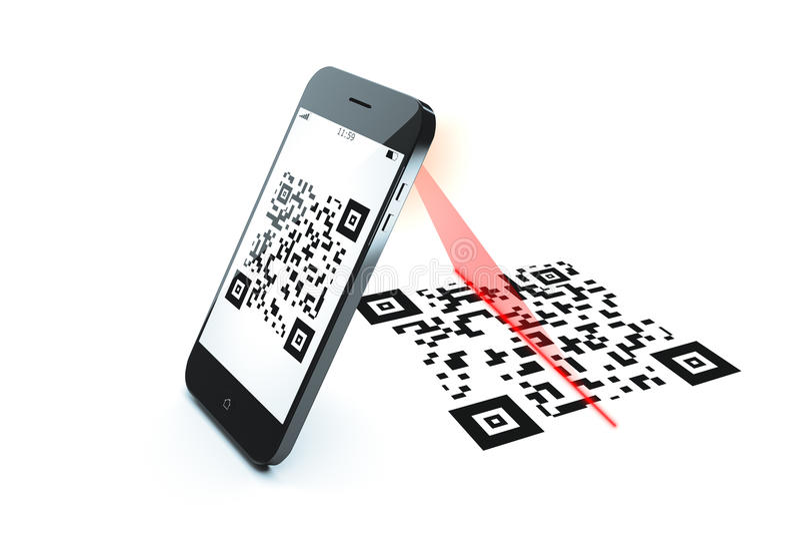 Qr code scan stock illustration