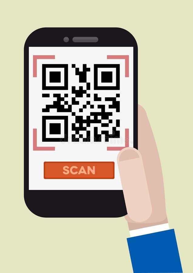 Qr code scan vector illustration