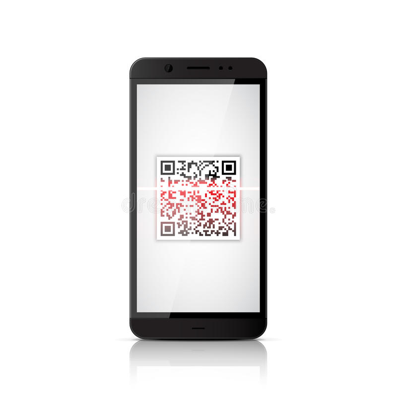 QR Code-Scannen lizenzfreie abbildung