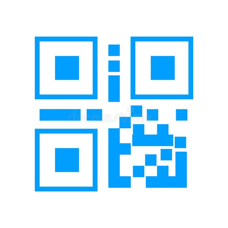 QR-code, streepjescodepictogram royalty-vrije illustratie