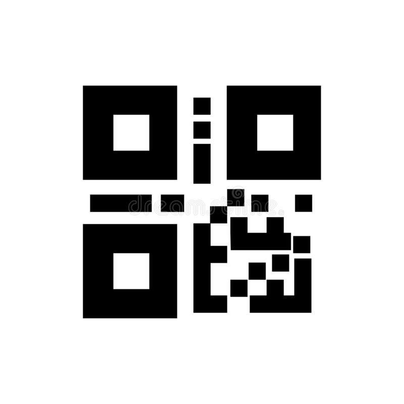 QR-Code, Strichkodeikone stock abbildung