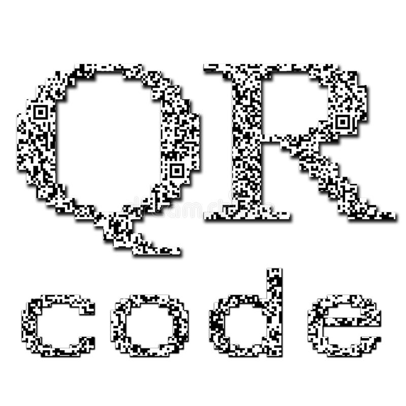 QR code textured text royalty free illustration