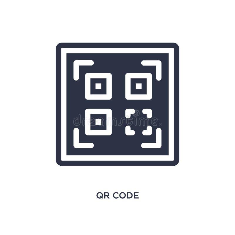 Qr-Codeikone auf weißem Hintergrund Einfache Elementillustration von der Lieferung und vom logistischen Konzept stock abbildung