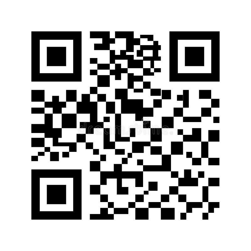 QR codepictogram op witte achtergrond wordt geïsoleerd die Vector illustratie stock illustratie