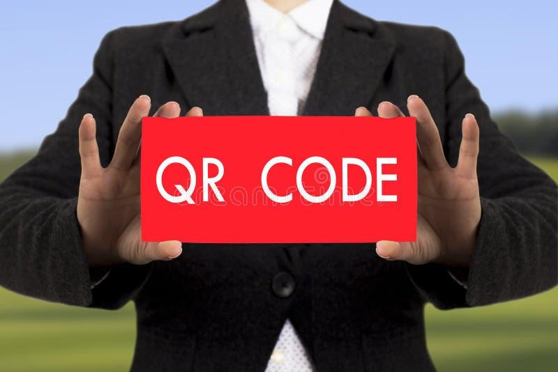 QR codestreepjescode stock afbeelding