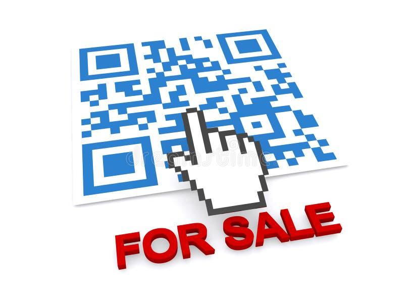 QR für Verkauf stock abbildung