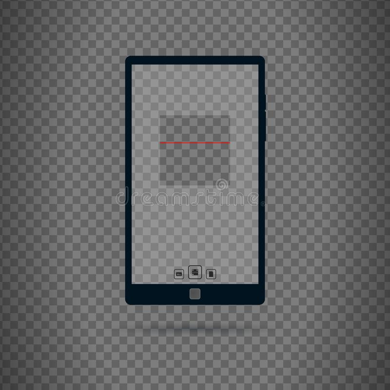 Qr i prętowego kodu przeszukiwacza interfejs użytkownika ilustracji