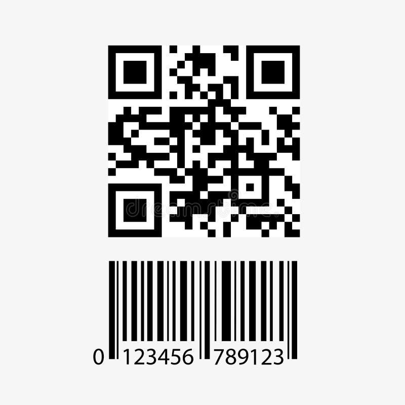Qr kod i barcode ikona royalty ilustracja