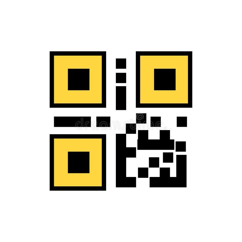 QR kod, Pr?towego kodu ikona ilustracji