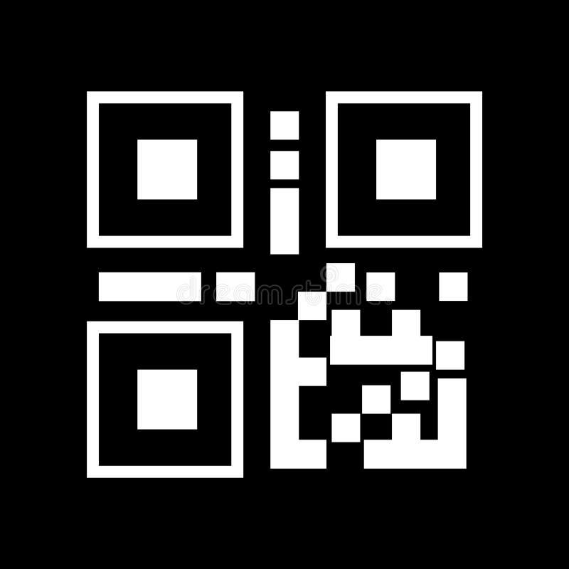 QR kodu biały liniowy qr code symbolu wektorowa ilustracyjna ikona ilustracja wektor