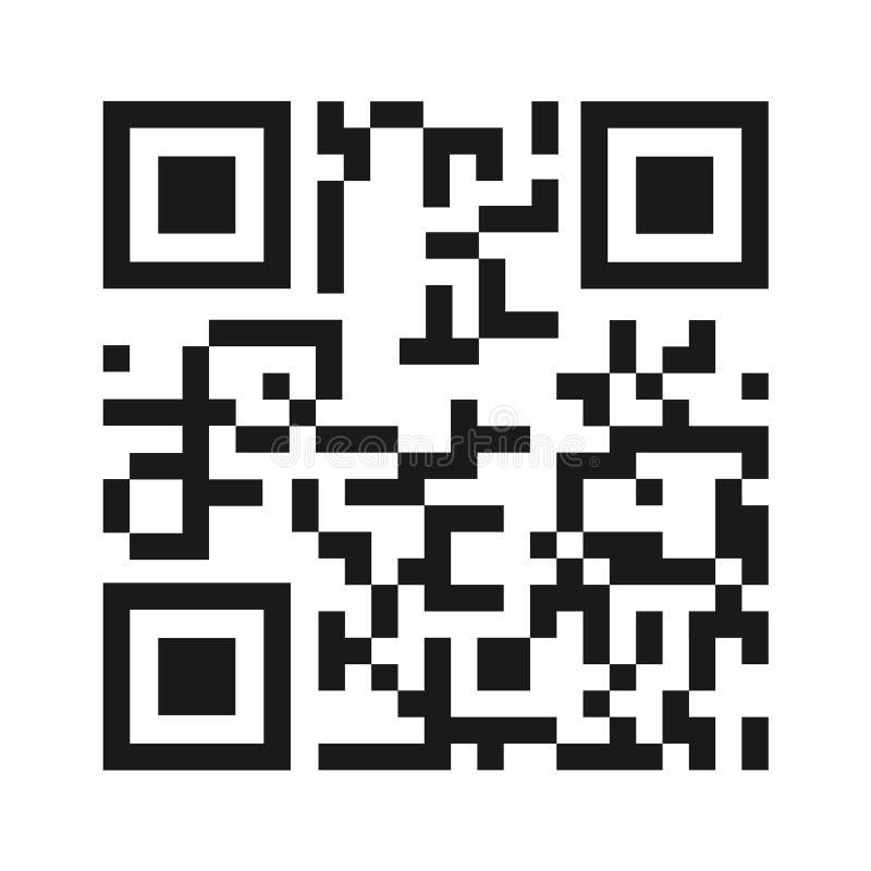 QR kodu ikony wektor odizolowywający na białym tle Cyfrowej informaci znak ilustracja wektor