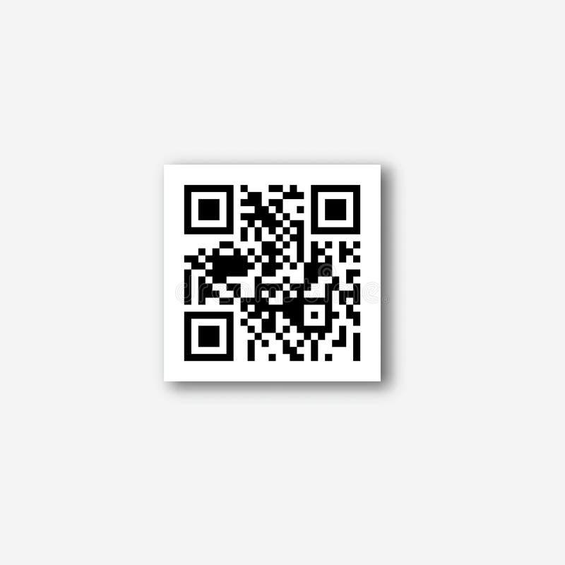 QR kodu wektoru ikona royalty ilustracja