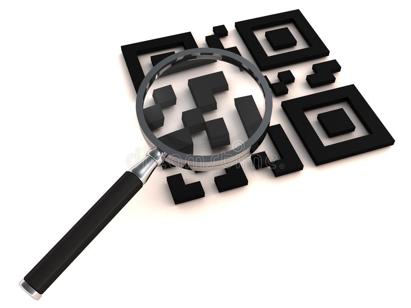 Download QR with lens stock illustration. Illustration of numeric - 25807547