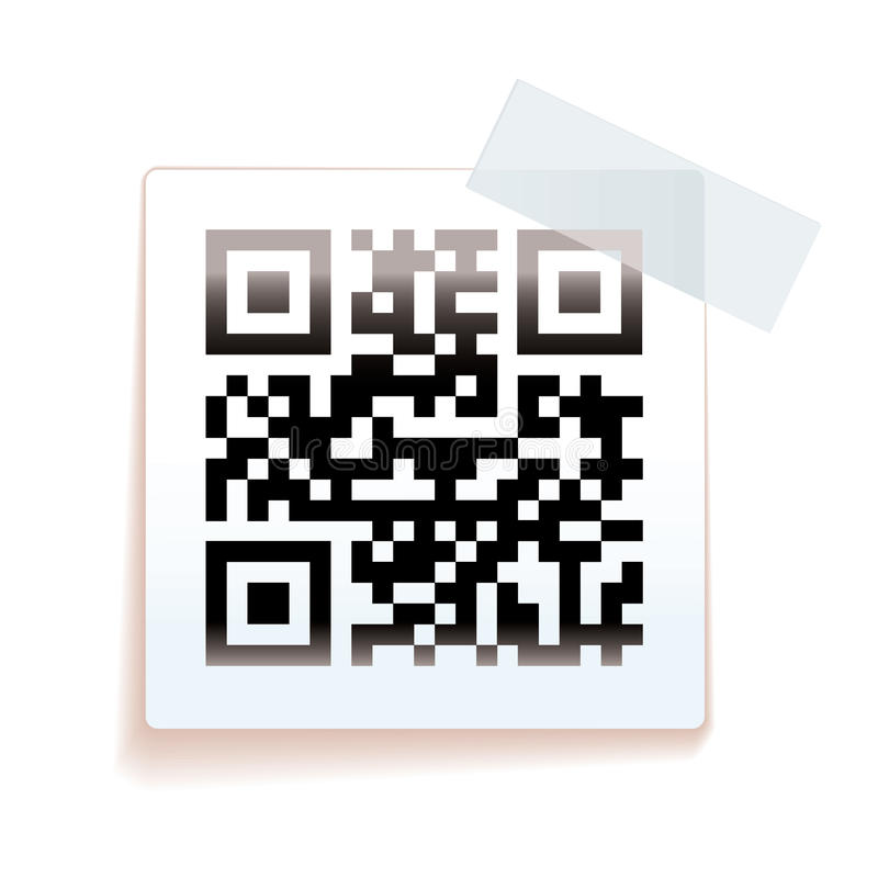 Download QR paper tag stock illustration. Image of barcode, qrcode - 25356793