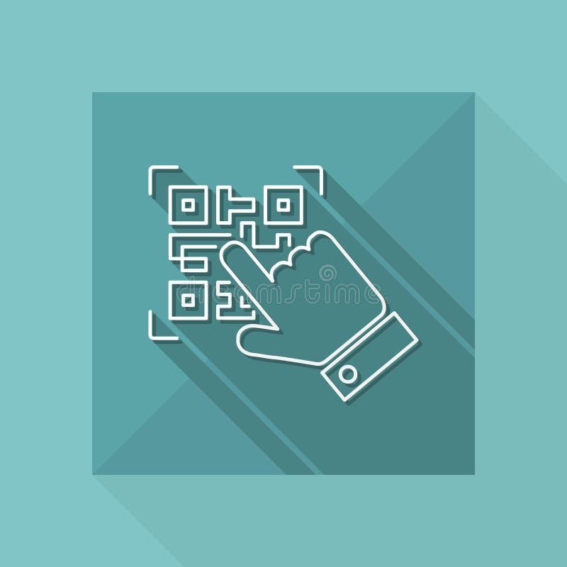 Qrcode enrarece el icono ilustración del vector