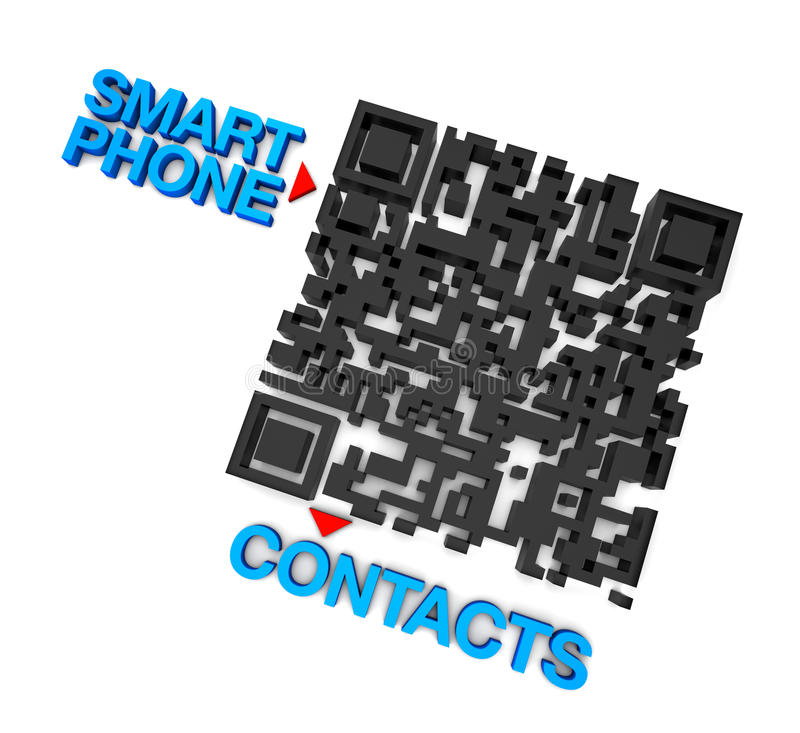 QRcode Smart Phone Contacts Stock Images