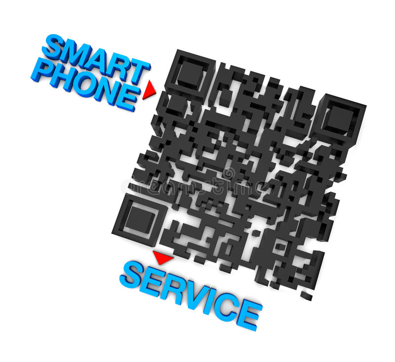 QRcode Smart Phone Service Royalty Free Stock Photos