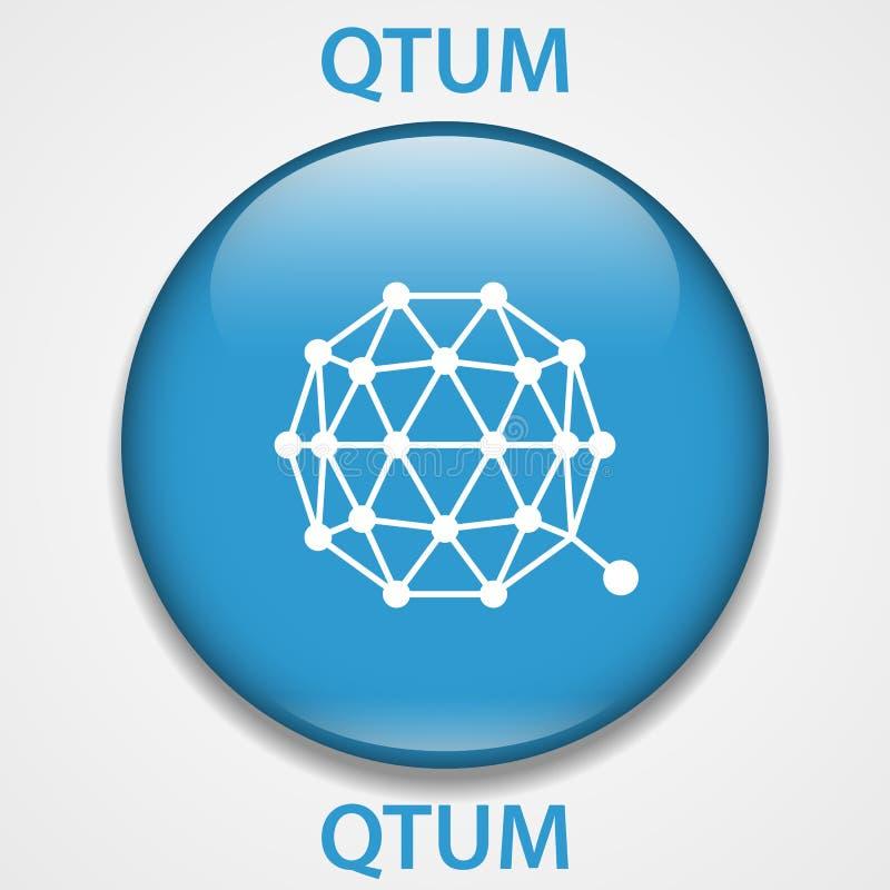 QTUMS-cryptocurrency blockchain Ikone Virtuelles elektronisches, Internet-Geld oder cryptocoin Symbol, Logo stock abbildung