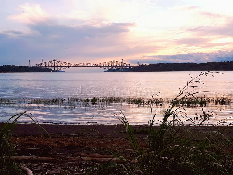 Québec-Brücke lizenzfreie stockfotos