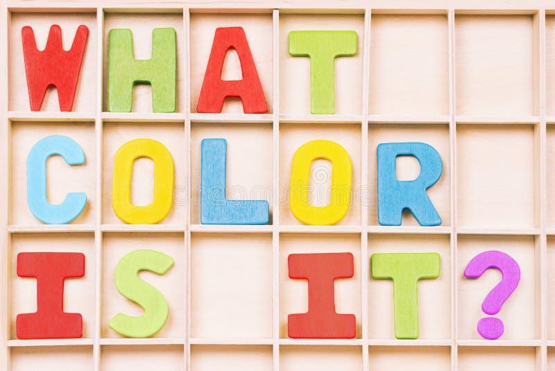 Qué color es él imagen de archivo
